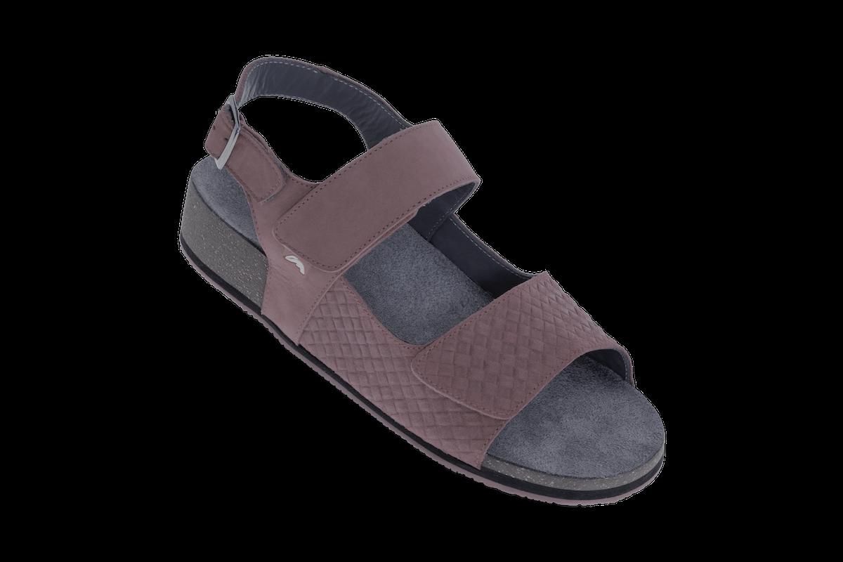 Tweeband sandaal met hielband